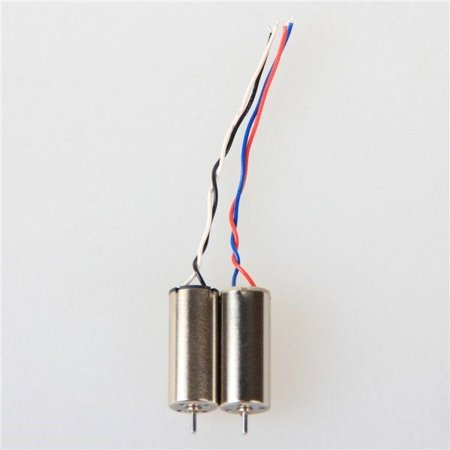 HobbyFlip 8mm Cup Motors CW/CCW Reversible Wires Dual Engines (2) Compatible with Hubsan X4