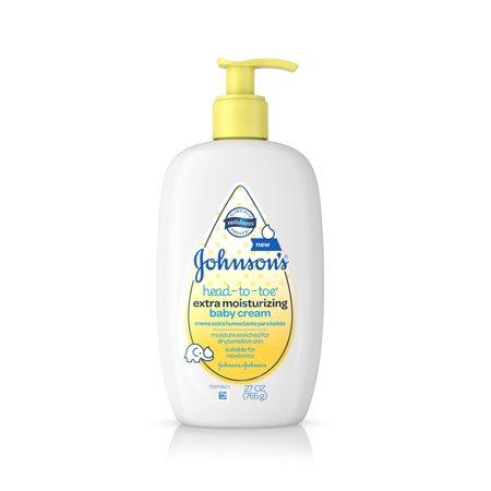 Johnson's Head-To-Toe Extra Moisturizing Baby Cream, 27 Oz
