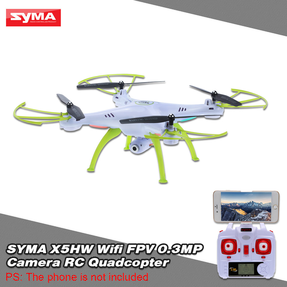 SYMA X5HW Wifi FPV 0.3MP Camera RC Quadcopter with 360° Eversion CF Mode Hover Function