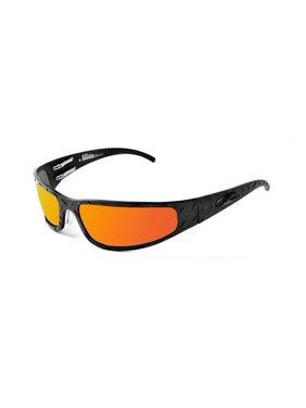 ICICLES Baby Bagger Orange Mirror Lens Sunglasses with Black Diamond Frame