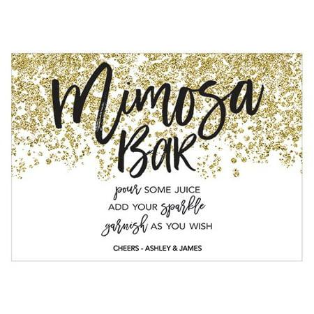 Sparkle Mimosa Bar Table Sign - Diy Mimosa Bar