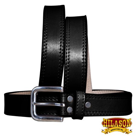 HILASON HEAVYDUTY WESTERN LEATHER MENS CONCEALED CARRY GUN HOLSTER BELT BLACK 34