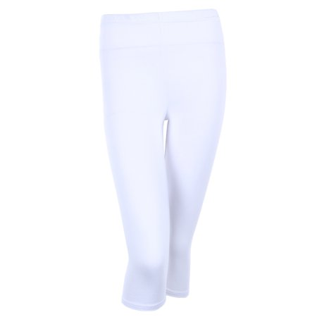 355b6b89cf5 PLUS SIZE Solid Cotton Capri Leggings Plain Pants Capris For Women, White,  3XL