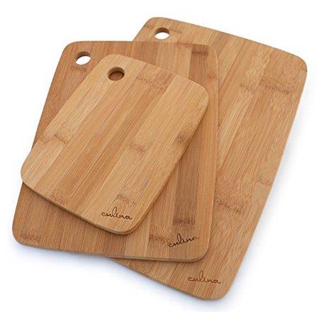 Bamboo Wood Cutting Board Set Of 3 Sizes: 8X6 11X8.5 - Wood Cutting Board Set