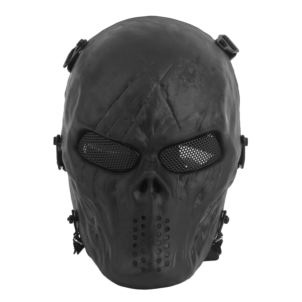 Airsoft Paintball Tactical Full Face Protection Skull Mask Skeleton Army by konxa