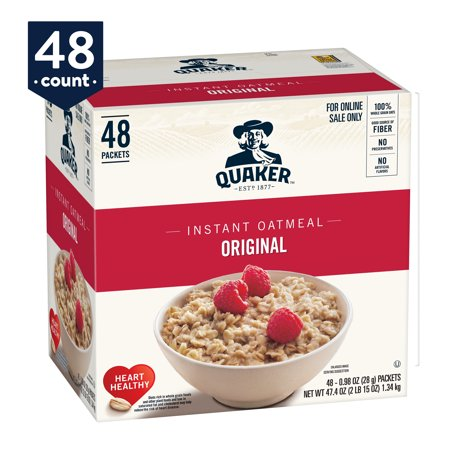 Quaker Instant Oatmeal, Original, 48 Packets