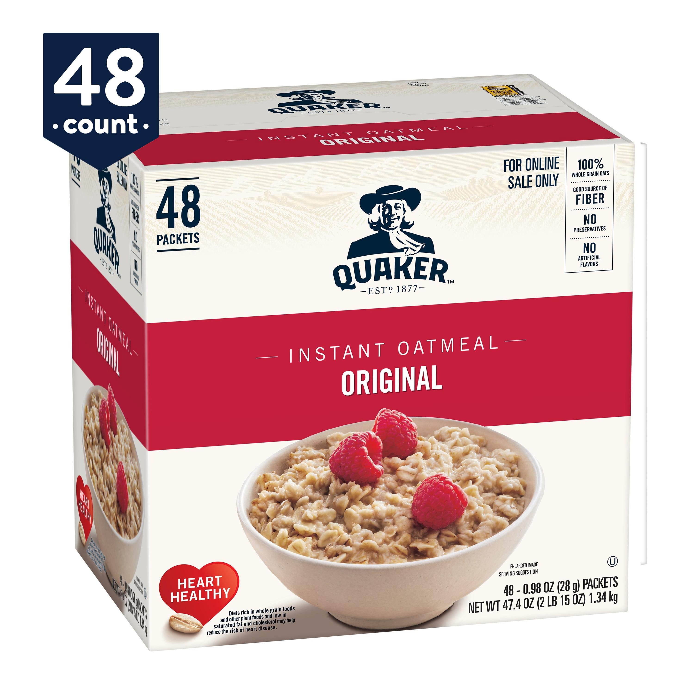 Quaker Instant Oatmeal, Original, 48 Packets