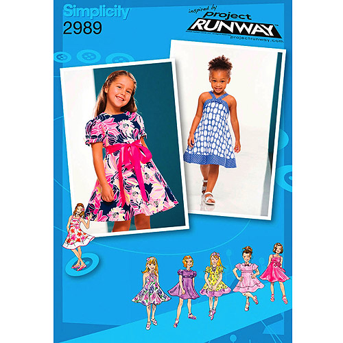 Simplicity Patterns Toddler and Child Dresses, 4, 5, 6, 7, 8
