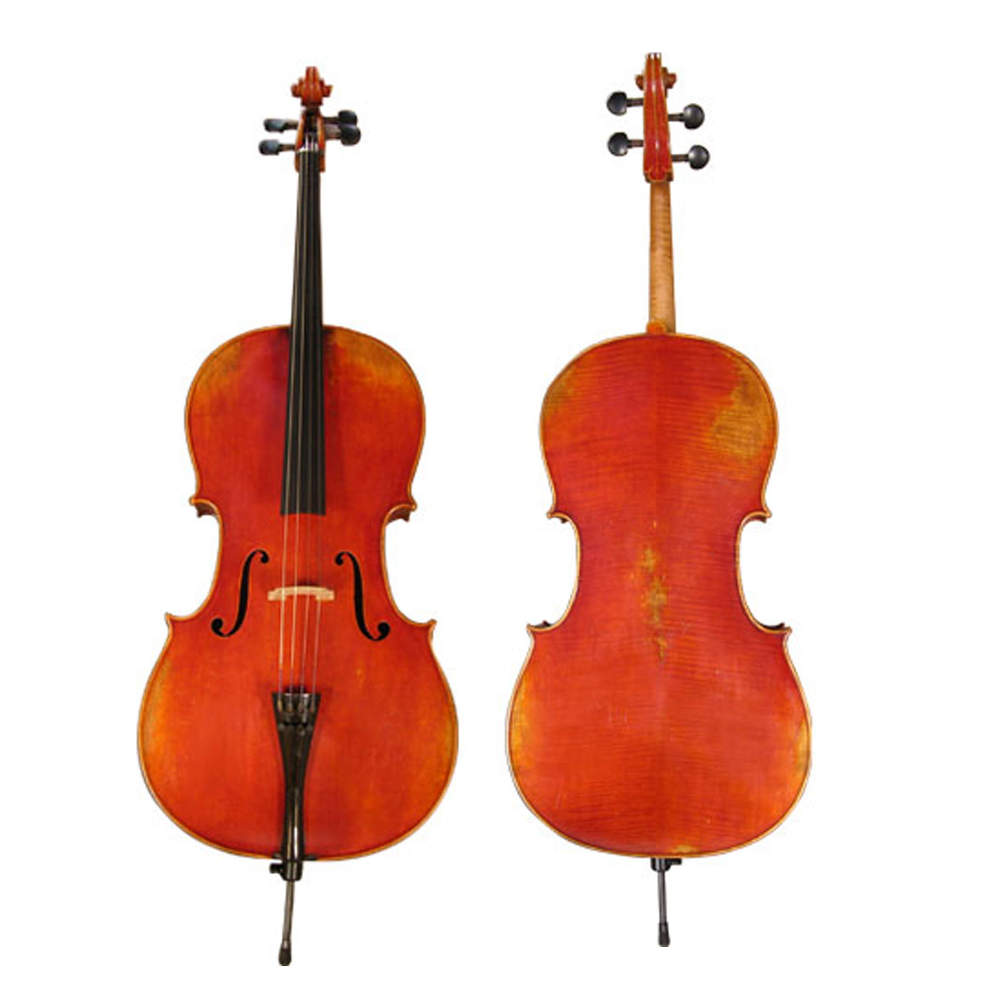 D'Luca Hand-Made French Antique Finish Ebony Cello Outfit, 3/4 Size