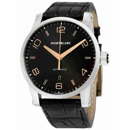 1b032d4262d MontBlanc - Montblanc Timewalker Automatic Black Dial Mens Watch 110337 -  Walmart.com