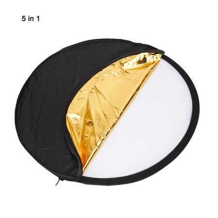Unique Bargains 80cm Dia. 5 in 1 Photography Studio Multi-Disc Collapsible Disc Light Reflector - image 5 of 6