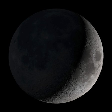 Waxing Crescent Moon (Waxing crescent moon Poster)