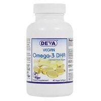 Deva Vegan Omega-3 DHA, 90ct (Udos Oil Dha 3 6 9 Blend Reviews)