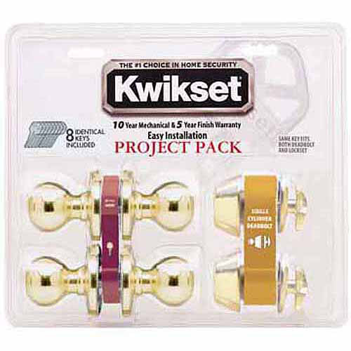Kwikset 92420-032 Blackened Satin Brass Tylo Knob Entry Lockset and Deadbolt