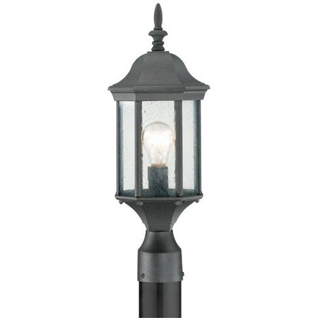 - Thomas Lighting SL90507 Hawthorne Outdoor Post Lantern, Black