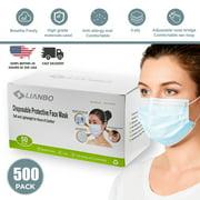 500 PCS Disposable 3 Ply Ear Loop Breathable Face Guard Masks