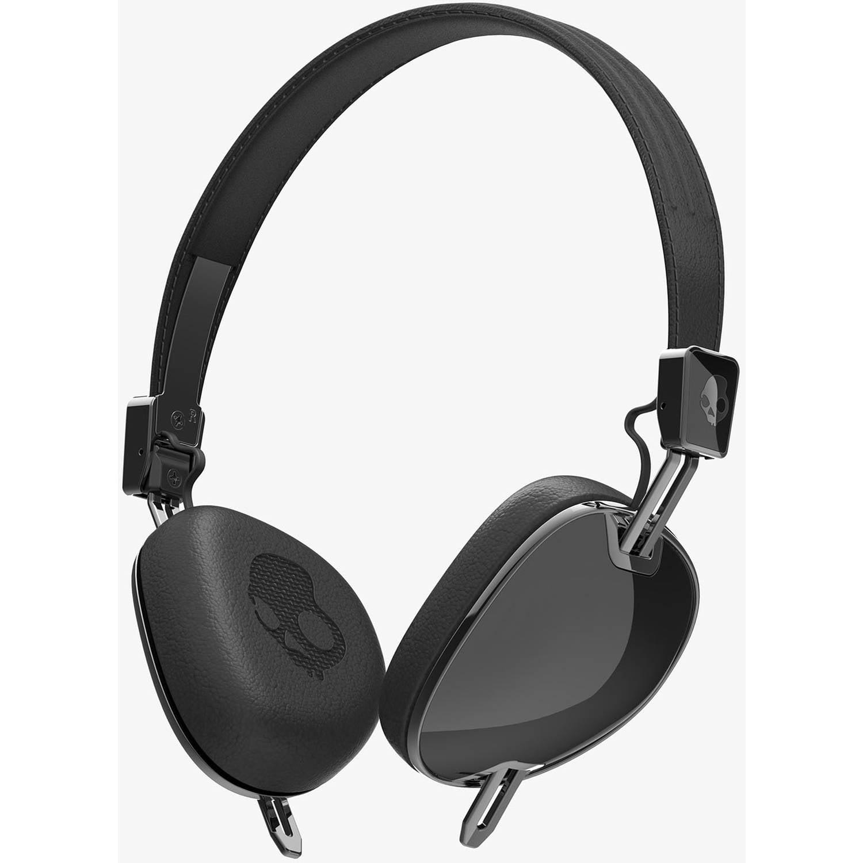 Skullcandy Navigator On-Ear Headphone with 3-Button Microphone, Black