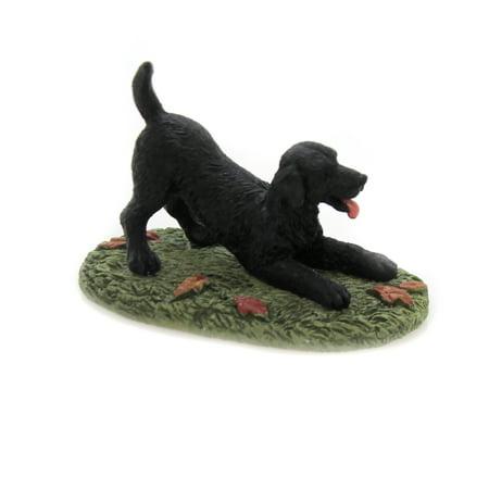 Department 56 Accessory PLAYFUL BLACK LAB Dog Puppy Best Friend