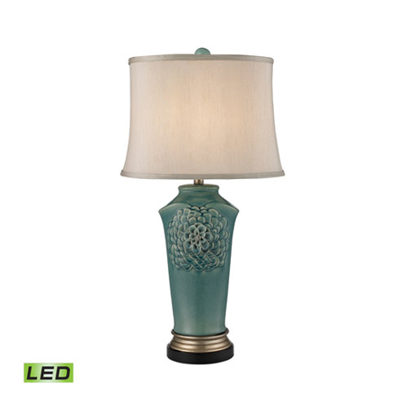 Table Lamps 1 Light With Medium Seafoam Glaze Gold Bronze Earnware Medium Base 31 inch 9.5 Watts