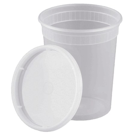 32oz Food Storage Deli Containers / Lids  Soup Freezer Meal Prep  25 Pack (Soup Containers For Freezer)