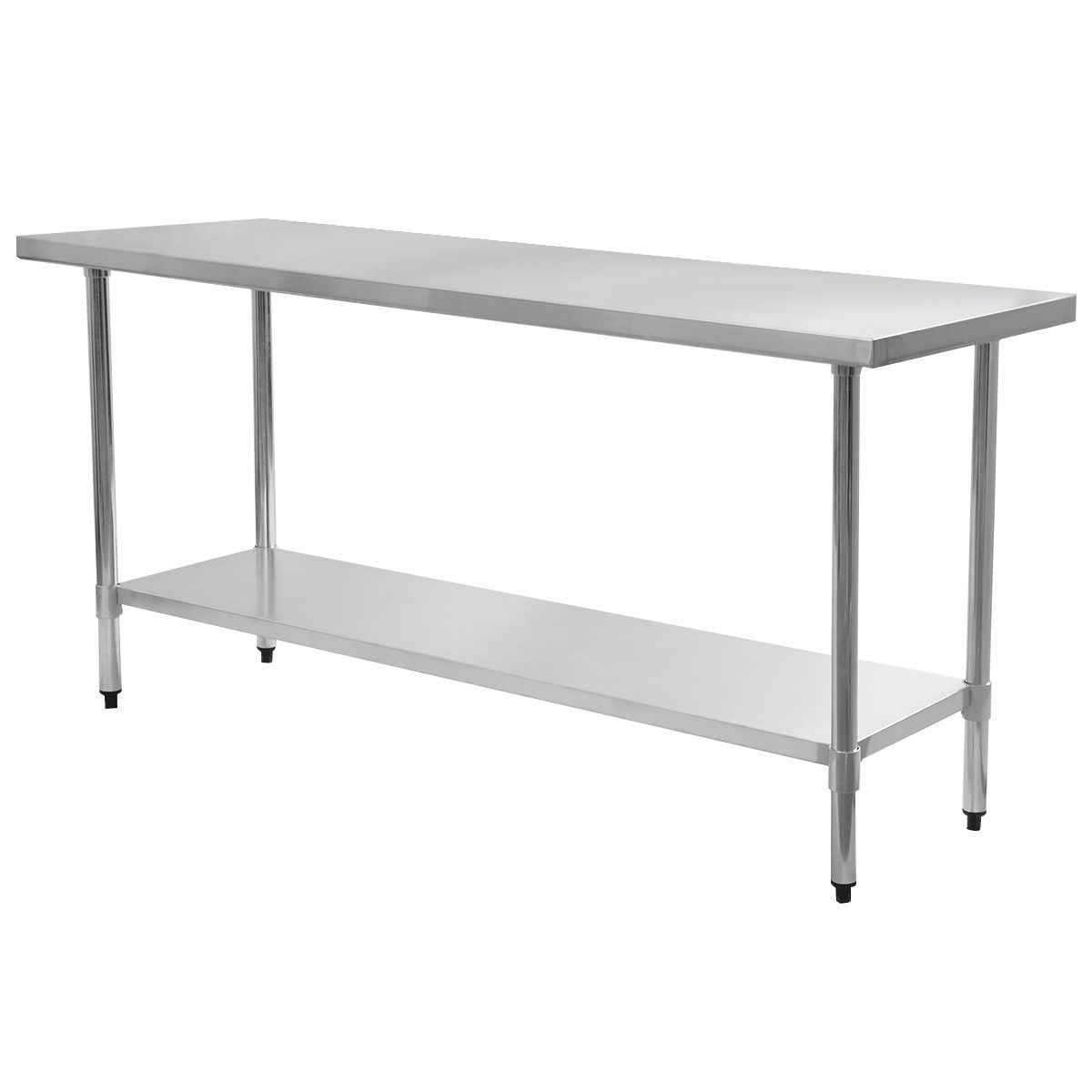 X Stainless Steel Work Prep Table Commercial Kitchen - 4 foot stainless steel table