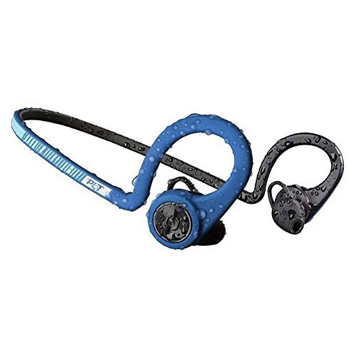 Plantronics BackBeat FIT Wireless Headphones - Waterproof Earbuds with On-Ear Controls, Power Blue