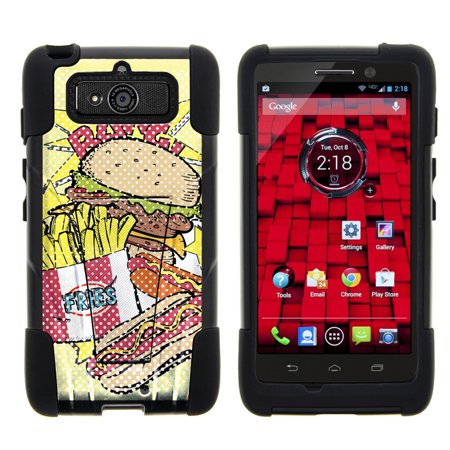Motorola Droid Mini XT1030 STRIKE IMPACT Dual Layer Shock Absorbing Case with Built-In Kickstand - Bangin Junk Food