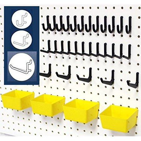 WallPeg 43 Pc Pegboard Kit.. peg hooks and part bins