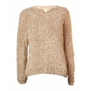 Maison Jules Women's Long-sleeve Eyelash-knit Sweater