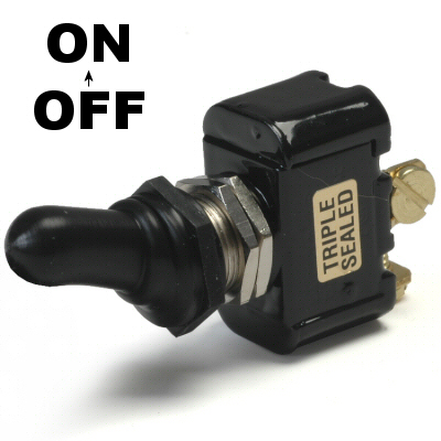 K-Four Off / On Double Pole 20 Amp Sand Sealed Toggle Switch With Screw Terminals