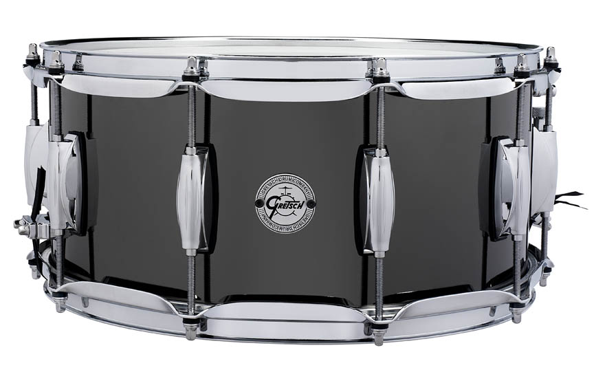 Gretsch Black Nickel over Steel Snare Drum by Gretsch