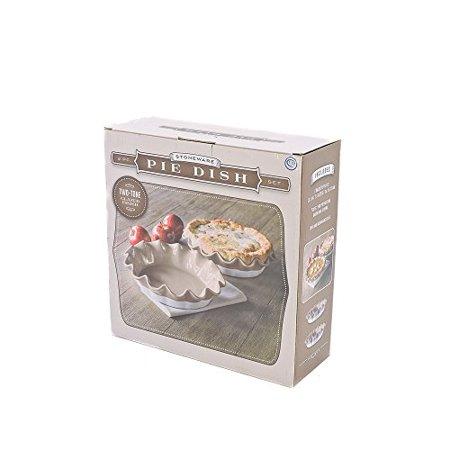 Stoneware 2 PC Pie Dish Set In - Stoneware Pie Dish