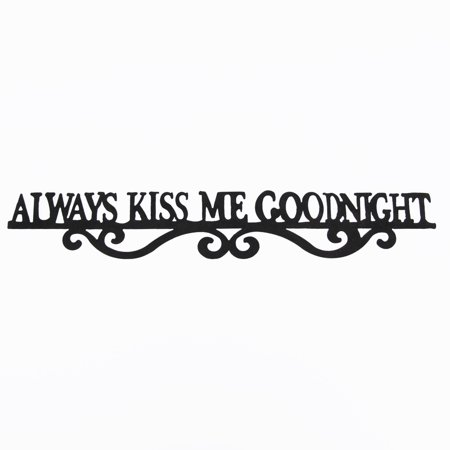 Always Kiss Me Goodnight Tin Metal Sign Rustic Kids Bedroom Home Decor Wall Art