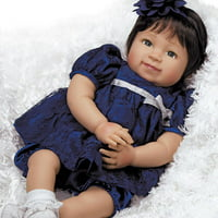 Paradise Galleries Reborn Asian Toddler Baby Alexandria, 20 inch Girl in GentleTouch Vinyl & Weighted Body, 5-Piece Doll Gift Set