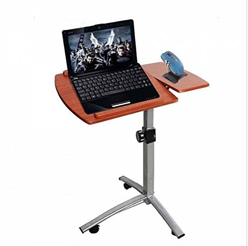 Laptop Desk Angle & Height Adjustable Rolling Laptop Desk Cart Over Bed Hospital Table Stand Folding Portable Table