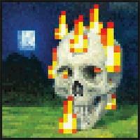Minecraft - Burning Skull Laminated Poster Print (24 x 24)