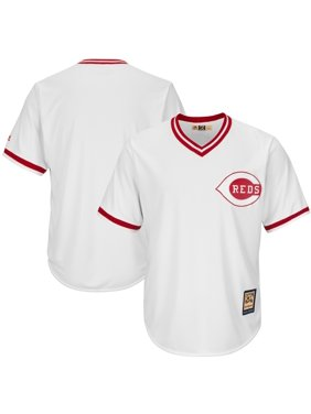 Cincinnati Reds Majestic Cooperstown Cool Base Team Jersey - White