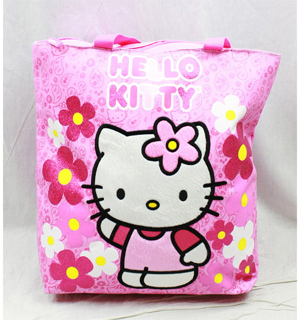 Tote Bag Hello Kitty Flowers Pink New Gifts Girls Hand Purse 82589 by FAB Starpoint