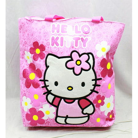 Bags Hello Kitty (Tote Bag - Hello Kitty - Flowers Pink  New Gifts Girls Hand Purse)