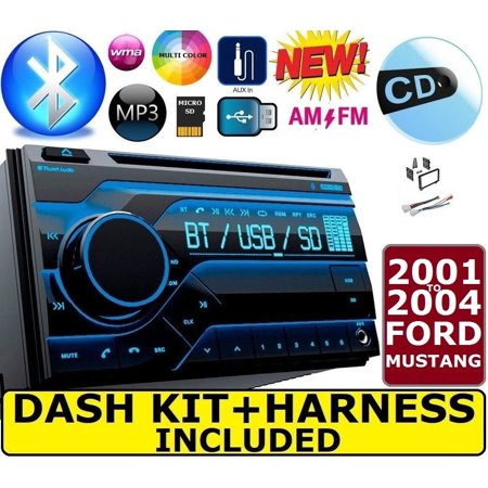 01 02 03 04 FORD MUSTANG BLUETOOTH CD USB AUX  Double Din Radio Stereo Dash (Ford Mustang Stereo)