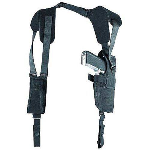 "Uncle Mike's 83001 Shoulder Holster, Fits up to 48"" Chest, Black Nylon"