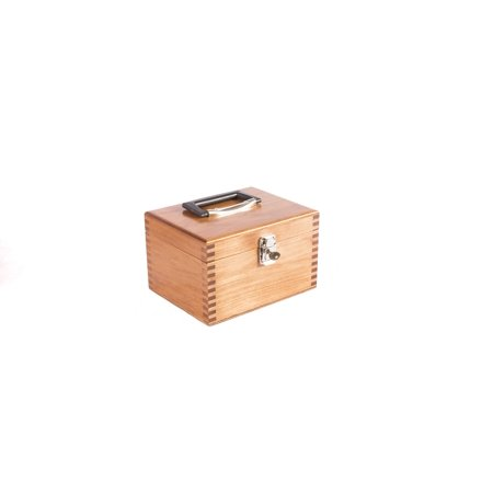 Image of G3N Ammunition Chest; Locking; Natural Finish on Solid CHERRY hardwood; Carrying Handle for ease of movement