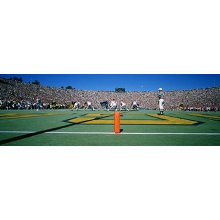 Football Game University Of Michigan Ann Arbor Michigan USA Poster - Halloween Usa Ann Arbor