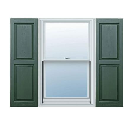 14 1 2 x 47 Builders Choice Vinyl Raised Panel Window Shutters w Shut