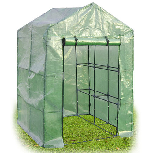 Costway Portable Mini Walk In Outdoor 2 Tier 8 Shelves Greenhouse by Costway