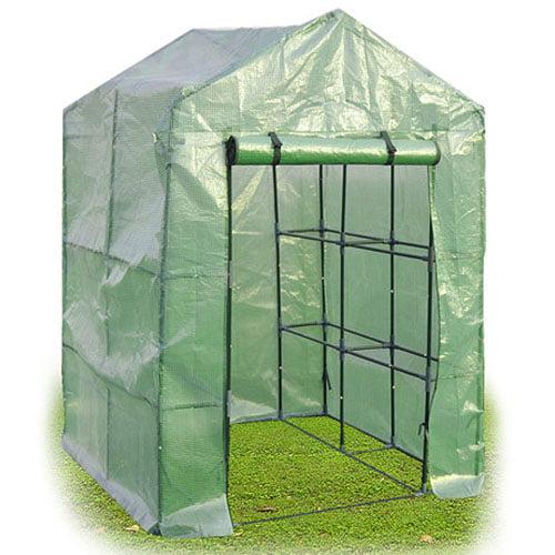 Costway Portable Mini Walk In Outdoor 2 Tier 8 Shelves Greenhouse by Costway