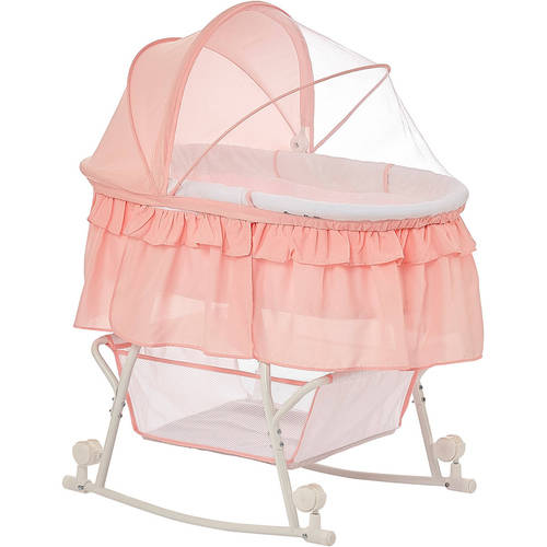 Dream On Me Lacy Portable 2 In 1 Bassinet And Cradle, Rosu2026