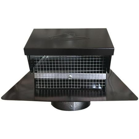 BUILDERS BEST 012635 Black Metal Roof Vent Cap (4