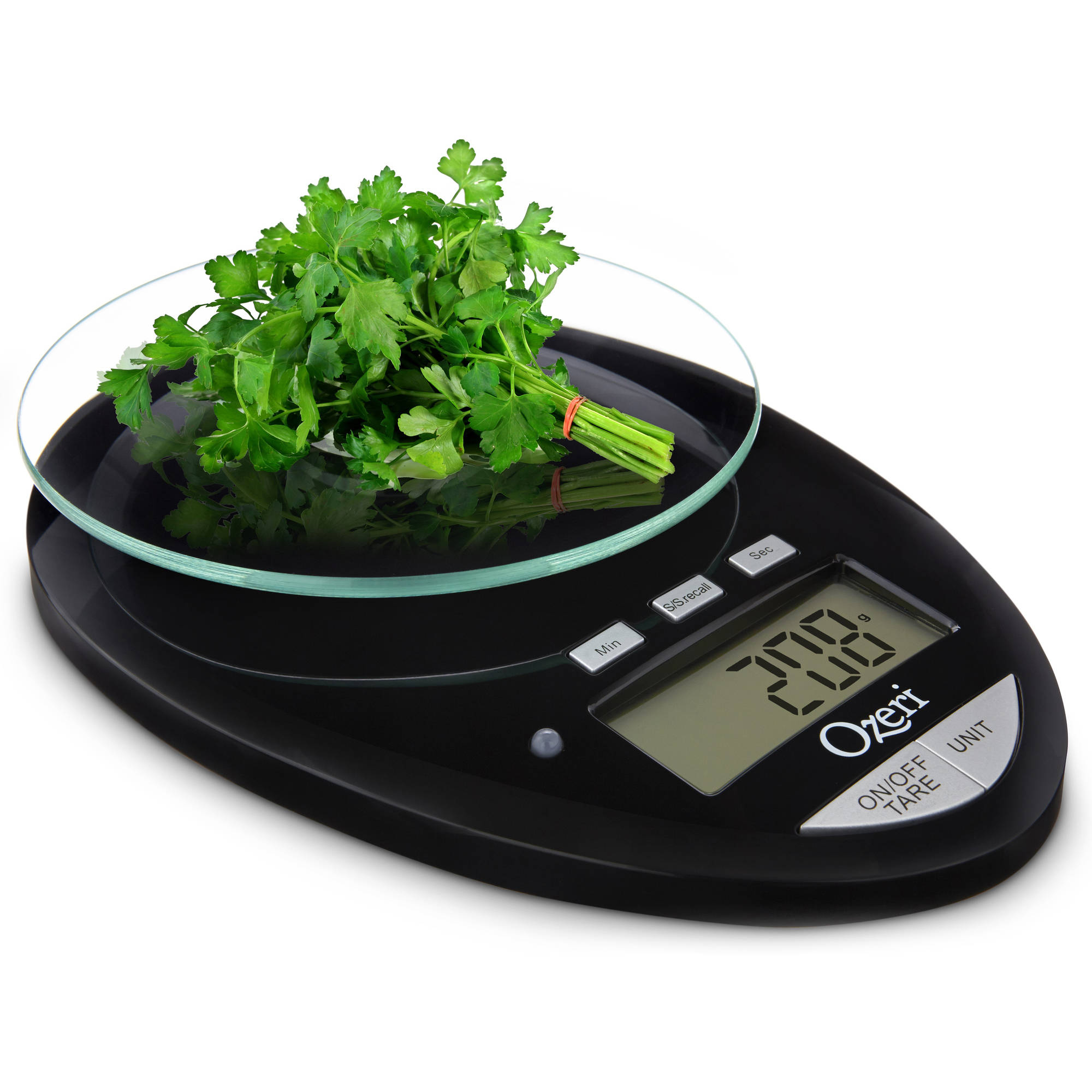 Ozeri Pro II Digital Kitchen Scale with Removable Glass Platform and Countdown Kitchen Timer