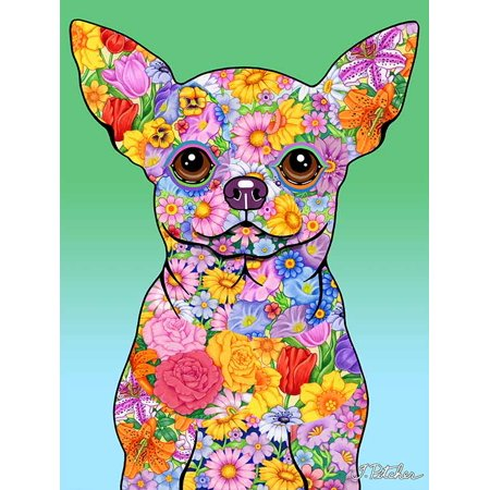 Chihuahua - Best of Breed Flowers Design House Flag